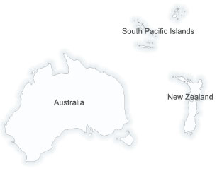 Map of Australasia and Pacific region